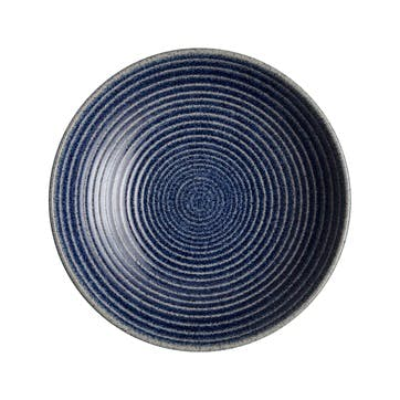 Studio Blue Chalk Cobalt Ridged Bowl