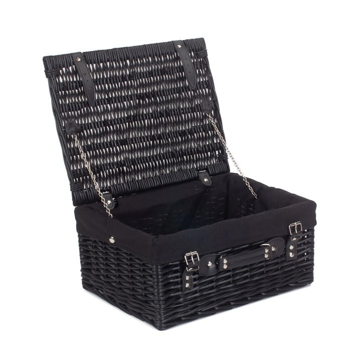 "16"" Black Hamper with Black Lining"