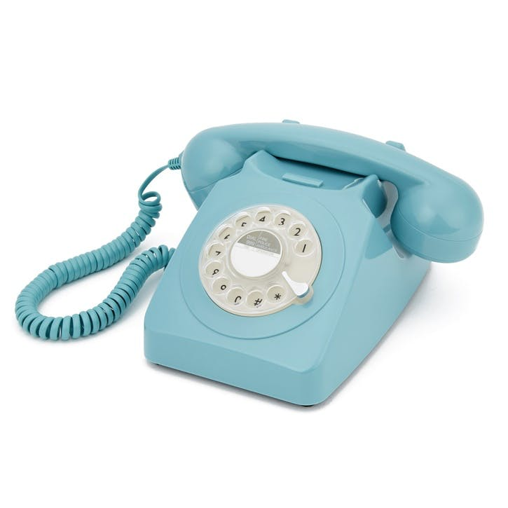 746 Rotary Telephone; Blue