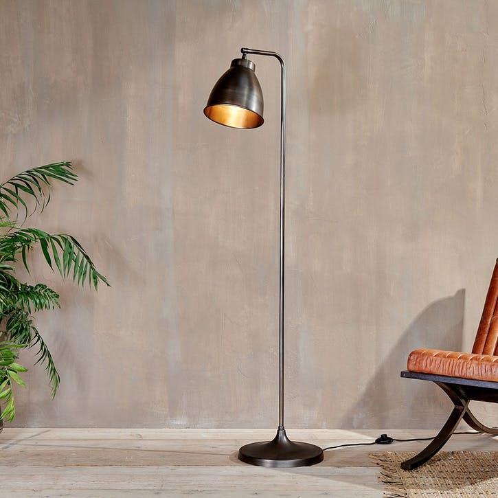 Muturi, Floor Lamp, Aged Bronze