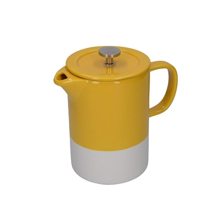 Barcelona Cafetiere, 6 Cup, Mustard
