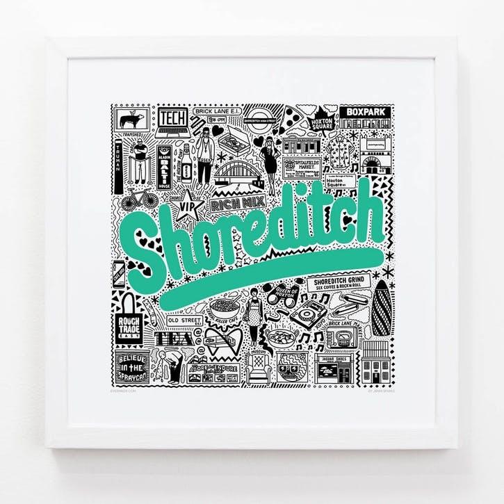 Hometown Shoreditch Print, 33cm