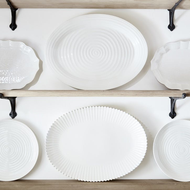 Oval Plate - Large; White