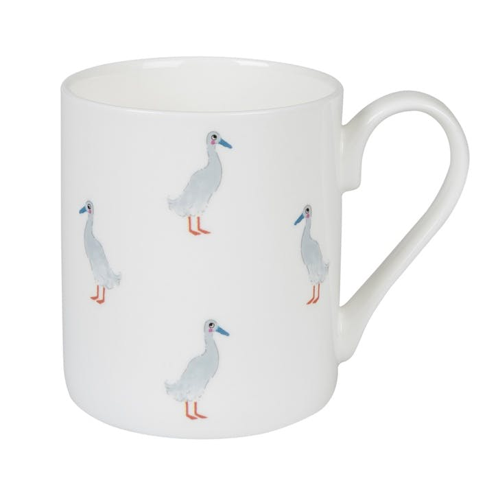 'Runner Duck' Mug - Large; White