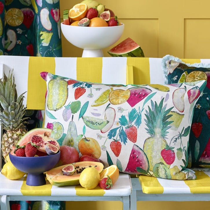 Tutti Fruity Cushion, Natural