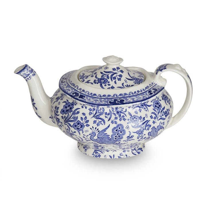 Regal Peacock Teapot, 5 Cup, Blue