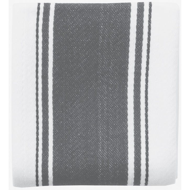 Striped Tea Towel, Slate Grey