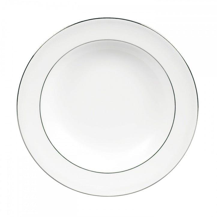 Blanc Sur Blanc Rim Soup Plate
