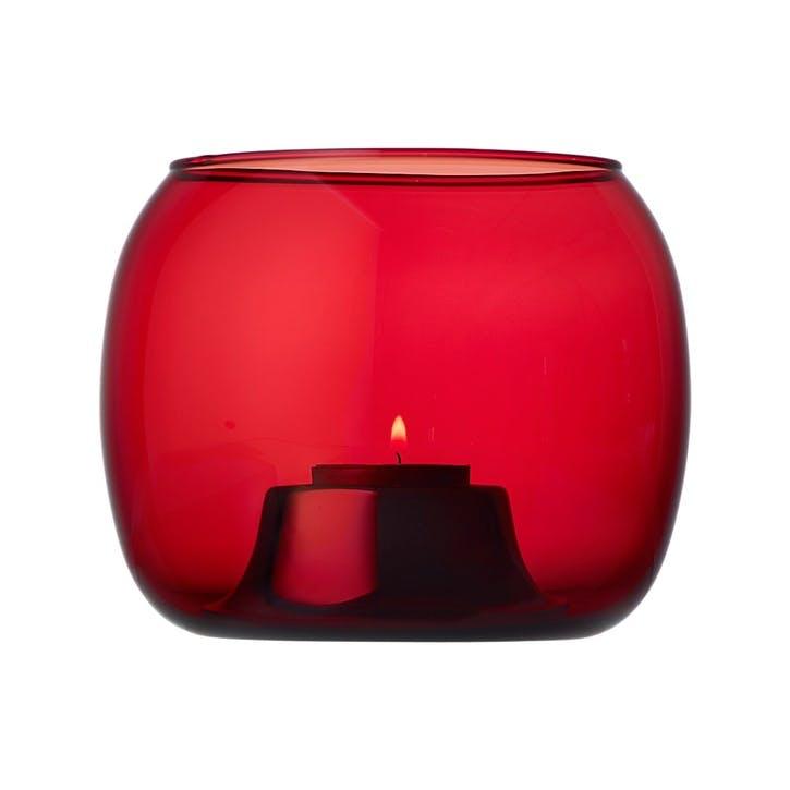 Kaasa Tealight candleholder - 14x11cm; Cranberry