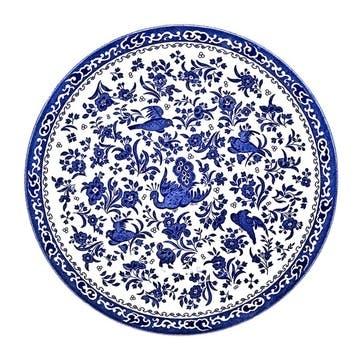 Regal Peacock Plate, 25cm, Blue