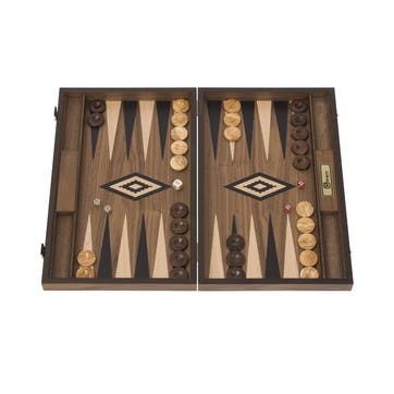 Mahogany Backgammon Set, 47cm; Brown