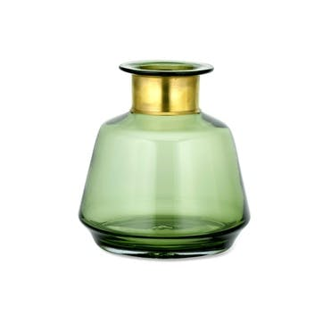 Miza Glass Vase, Green, Small