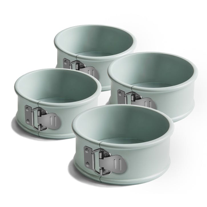 Jamie Oliver Non-Stick Mini Spring Form Round Cake Tins, Set of 4