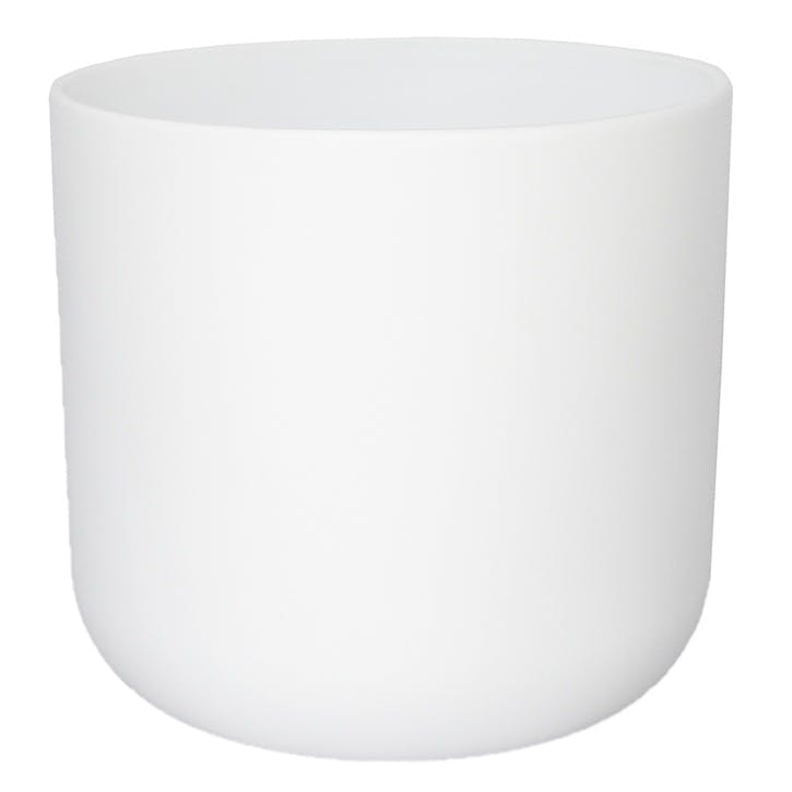 Lisbon Planter H23cm, White