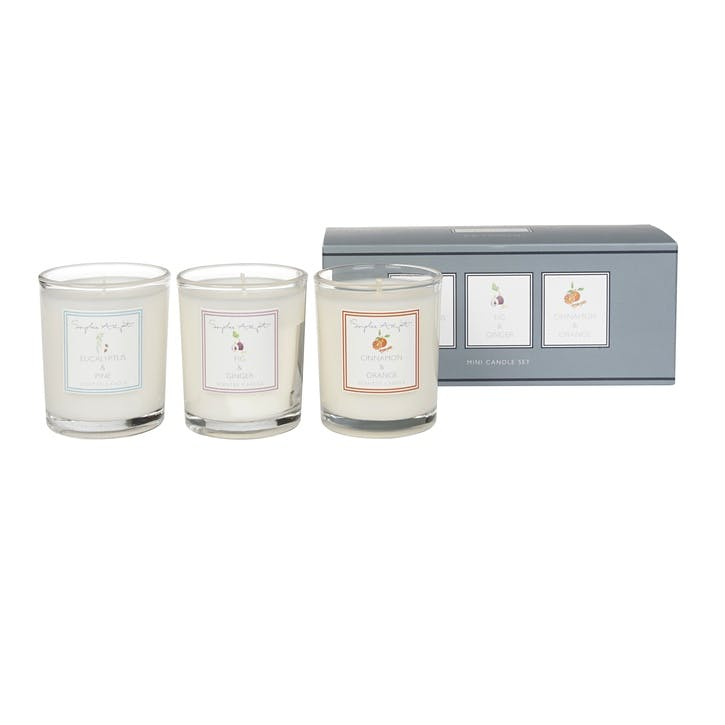 Mini Scented Candles, Set of 3