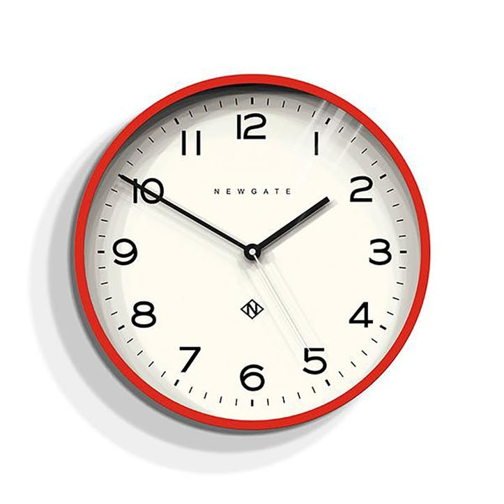 Echo - Number 3, Wall Clock, W37cm x D5cm x H37cm, Red