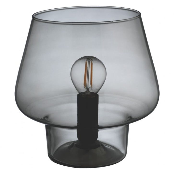Lyss Smoked Glass Table Lamp