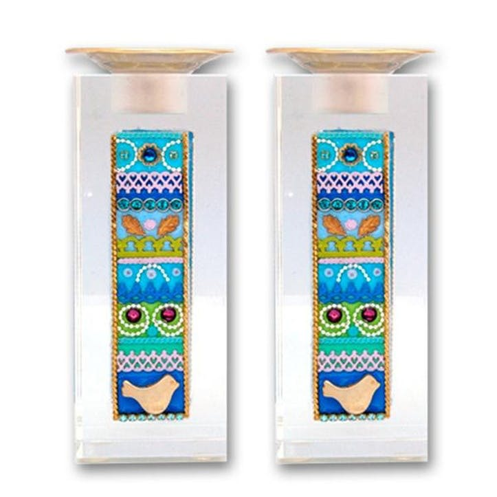Crystal Candlesticks, Set of 2