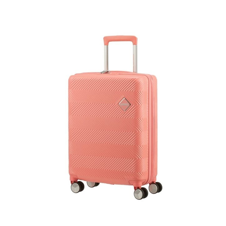 Flylife Spinner Suitcase, 55cm, Coral Pink