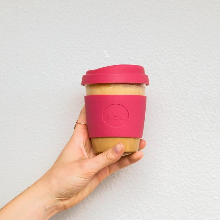 Coffee Cup, 12oz, Radiant Rose