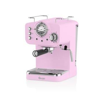 Retro Espresso Machine, Pink