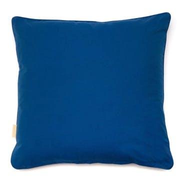Blue Fantasy Kaleidoscope, Square Velvet Cushion