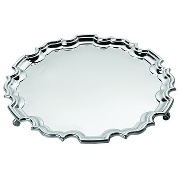 Sterling Silver Chippendale Waiter, 20cm