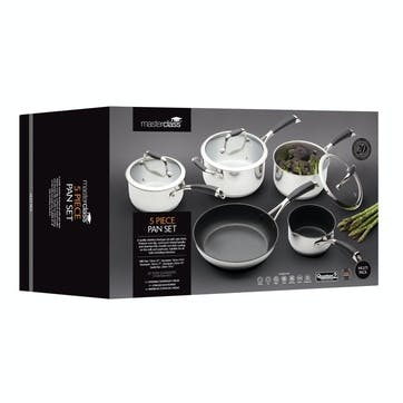 5 Piece Deluxe Stainless Steel Cookware Set