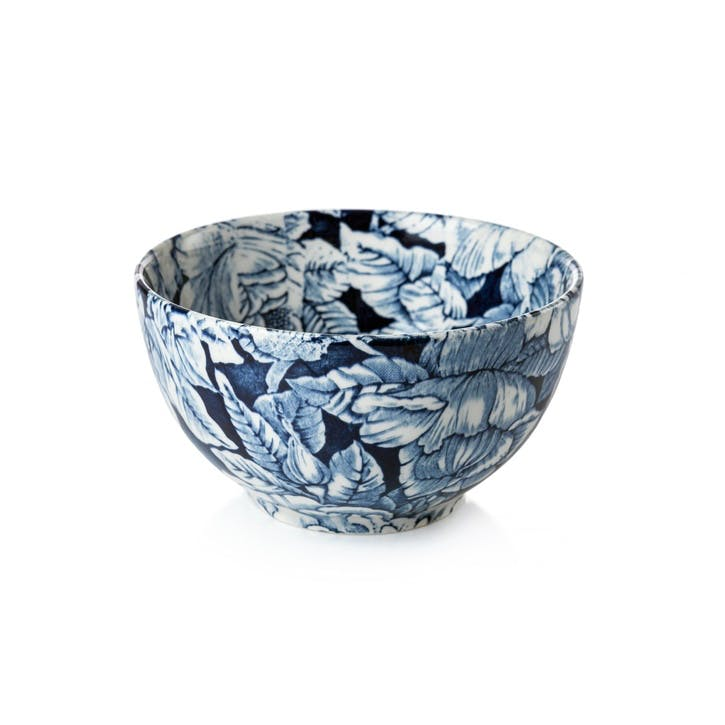 Ink Blue Hibiscus Cereal Bowl