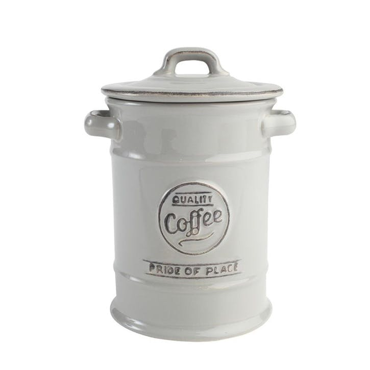 Pride of Place Coffee Jar, Cool Grey