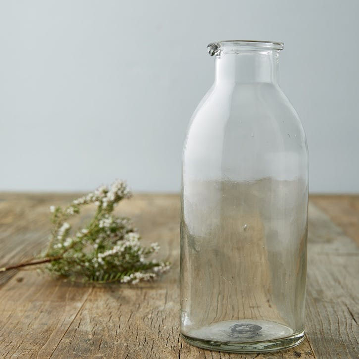 Modern Rustic Tall Glass Jug/Carafe