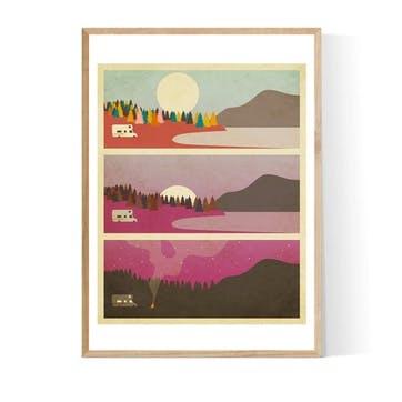 Jazzberry Blue, Campfires Framed Art Print