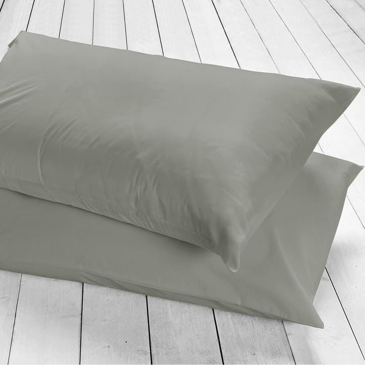 Pure Housewife Pillowcase, Set of 2, Slate