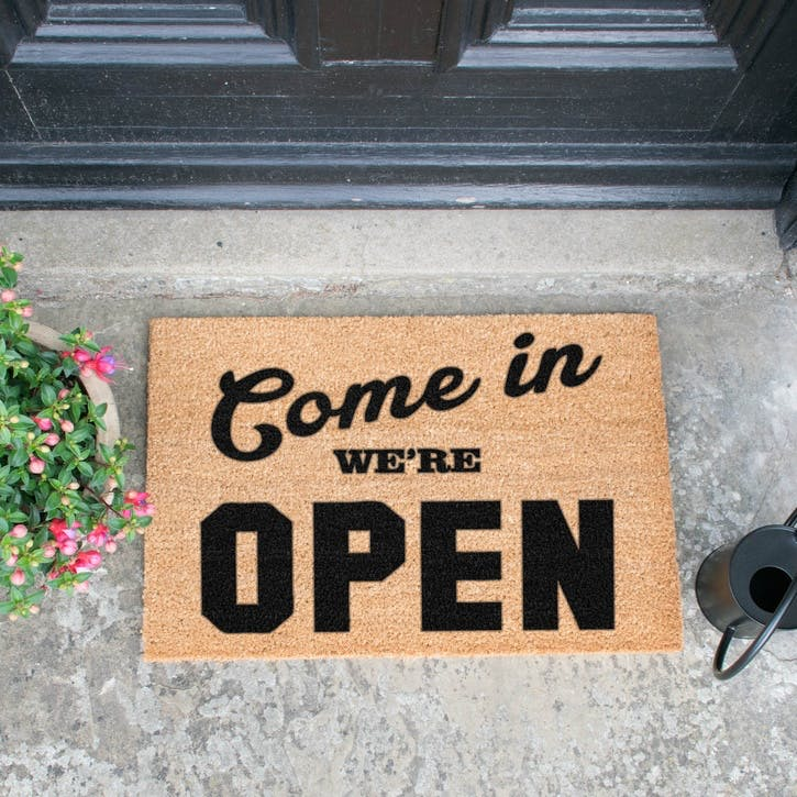 We're Open Doormat