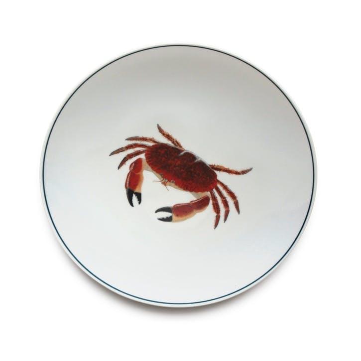 Seaflower Crab Dinner Plate, 28cm, Red