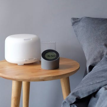 The Edge Light Alarm Clock, Grey