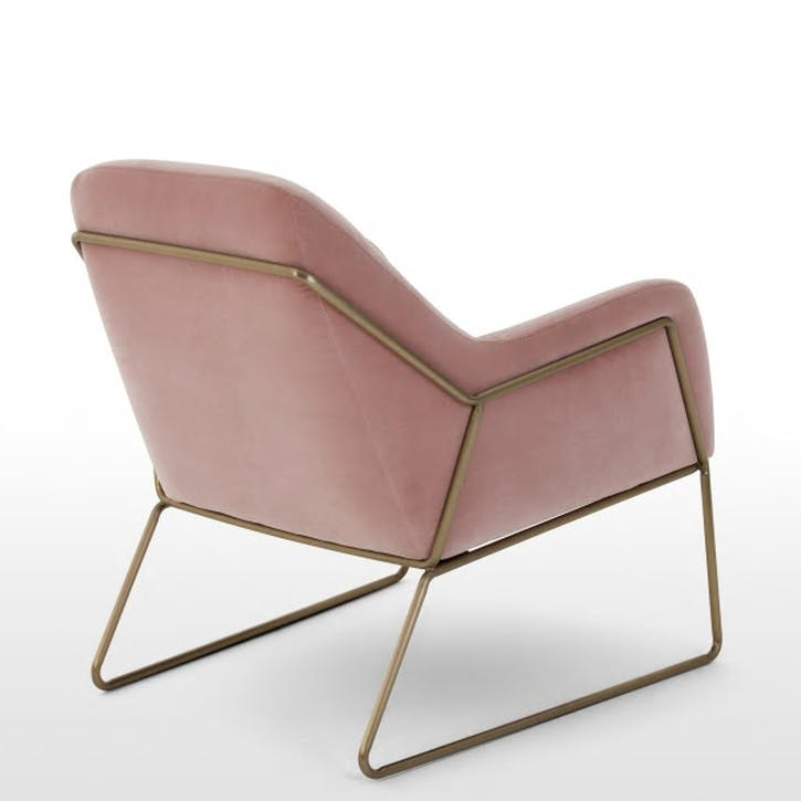 Frame Cotton Velvet Armchair; Blush