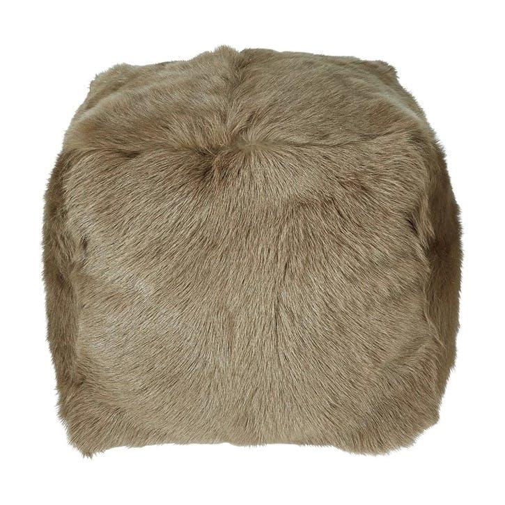 Chyangra Goat Hair Floor Cushion, Fawn