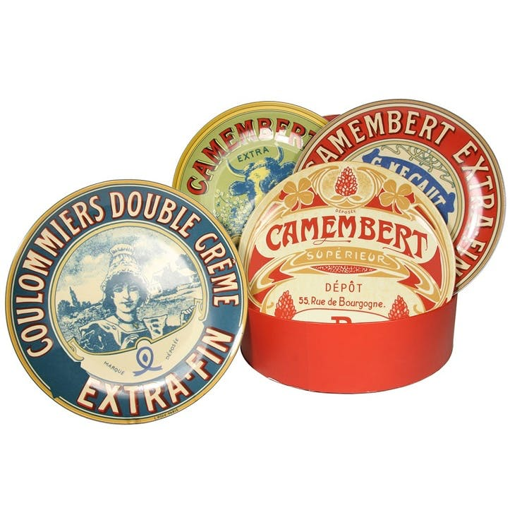 Camembert Cheese Plates, Set of 4
