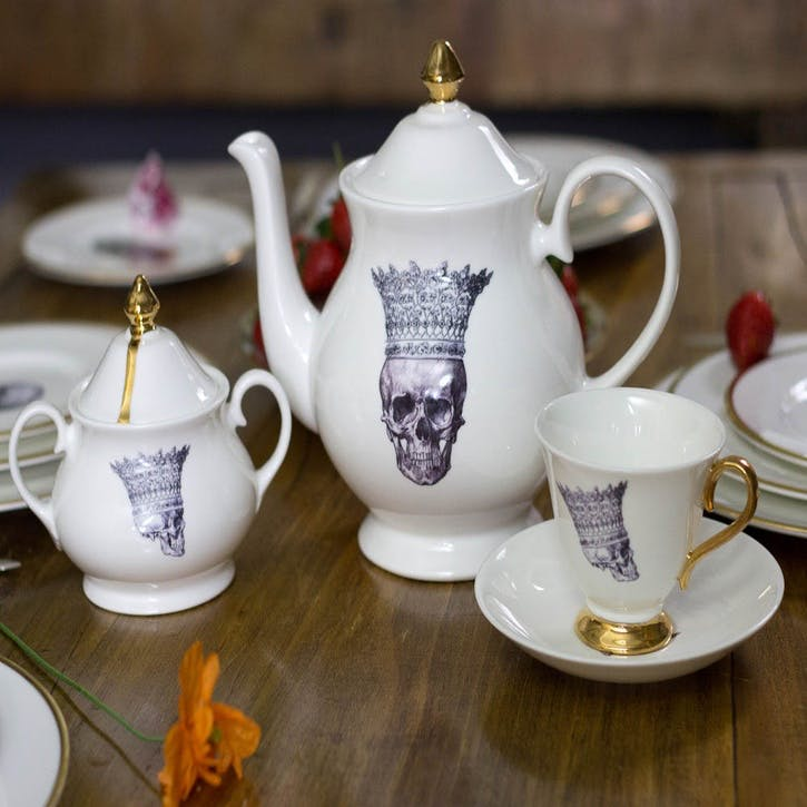 Rock and Roll Skull in Crown Cream Jug