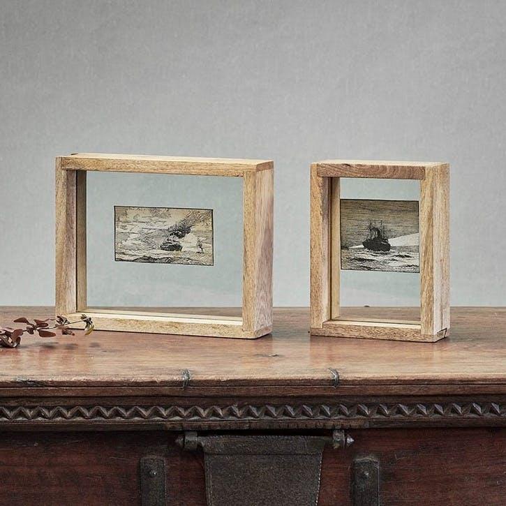"Indu Wooden Frame, 6 x 8"", Mango Wood"