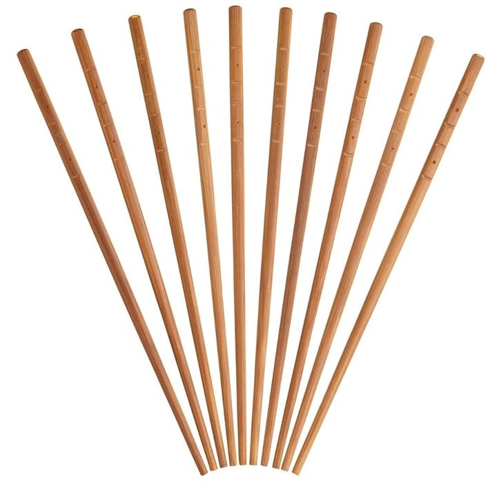World of Flavours Oriental Bamboo Chopsticks, 5 Pairs
