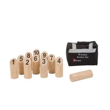 Wooden Scatter Set Game, 17.5cm, Natural