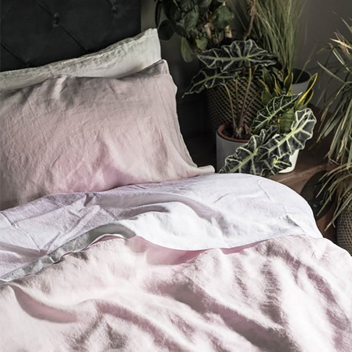 Complete Bedding Bundle Kingsize with Kingsize Pillowcases Blush Pink