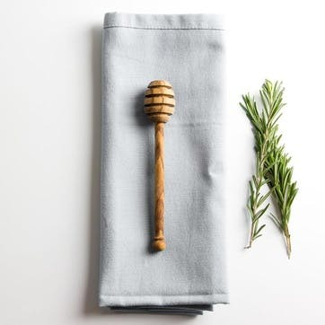 Traditional Olive Wood Honey Drizzler - 14cm