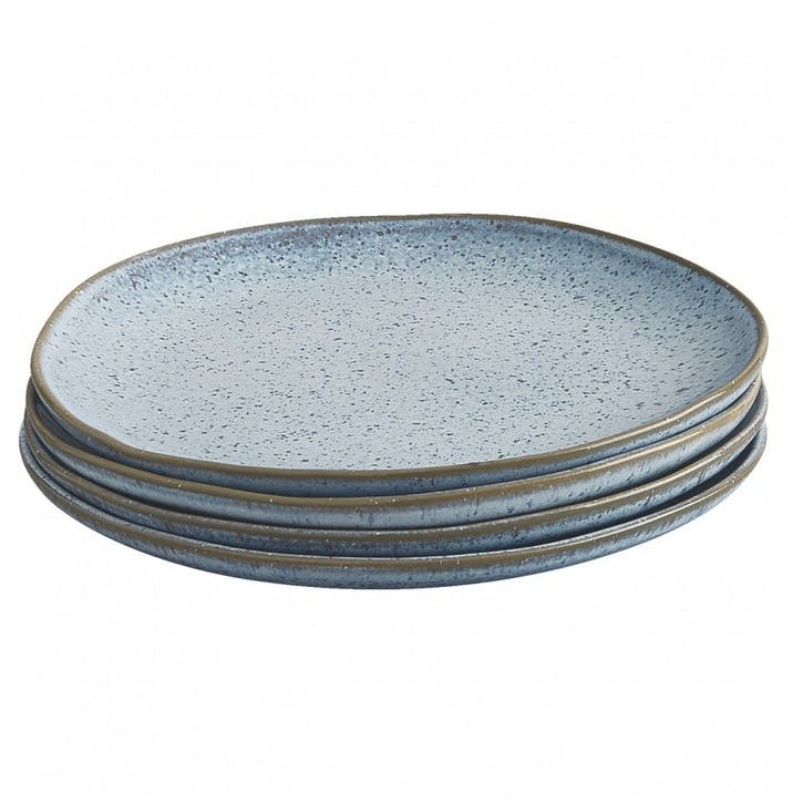 Olmo Dinner Plate, Set of 4, Light Blue