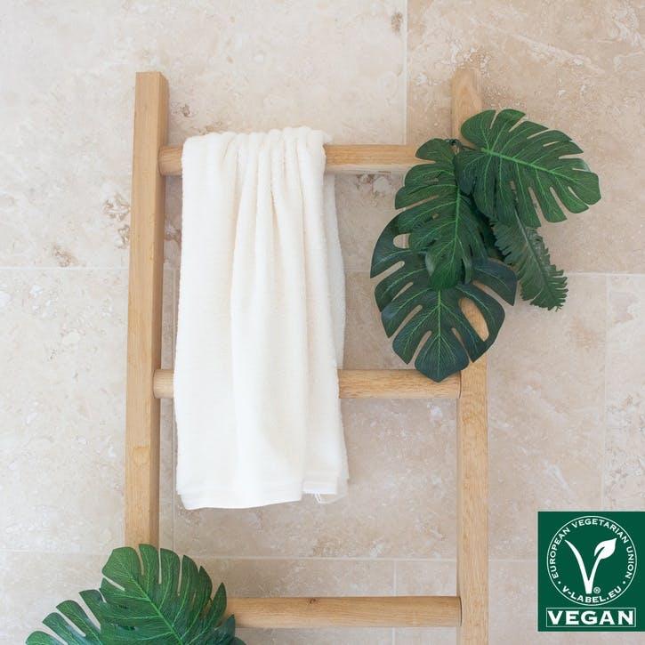 Vegan Life Hand Towel, Ivory
