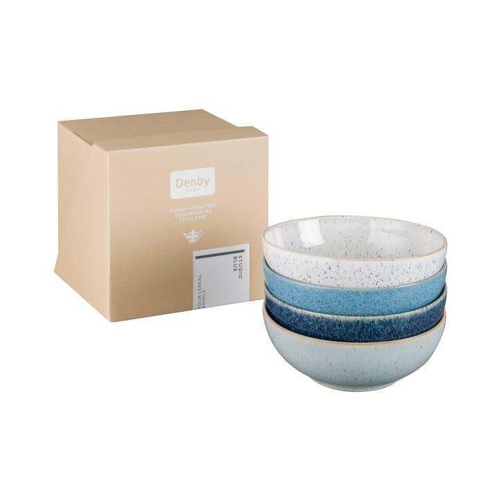 Studio Blue Set of 4 Cereal Bowls