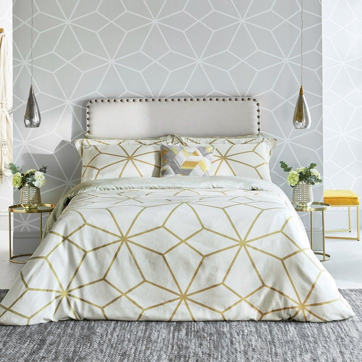 Axal King Duvet Cover, Ochre