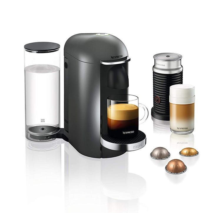Vertuo Plus Coffee Machine with Aeroccino; Titanium